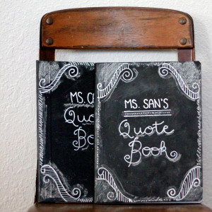 ... you like to make a chalkboard notebook for a teacher in your life