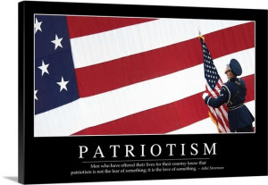 Patriotism: Inspirational Quote and Motivational Poster Wall Art