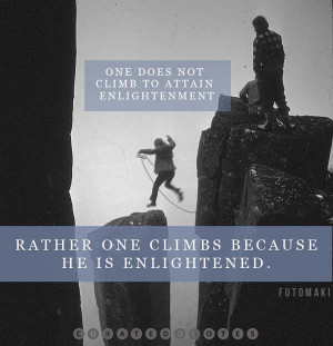 Climbing quote