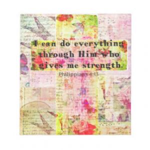 Philippians 4:13 christian spiritual art BIBLE Memo Pad