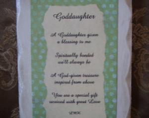 Goddaughter Inspirational Sign with Original Poem ...
