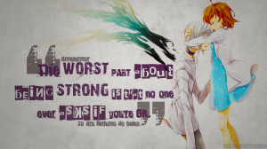 Accelerator - Anime Quotes - Wallpaper by azizkeybackspace
