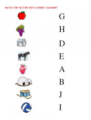 Alphabet Matching Worksheets