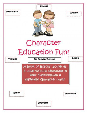 elementary character education character building worksheets character ...