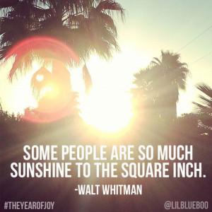 Sunshine - Joy Quote #theyearofjoy #joy #happiness #quote