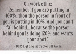 Work Ethic Quote #FullSailDCBS #filmmaking #cinematography #Quote