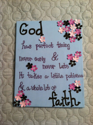Christian Quote Canvas Painting Made to by AnnaCarolinesCrafts. $10.00 ...