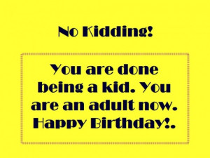 Happy 18th Birthday Funny Quotes 18th birthday message card