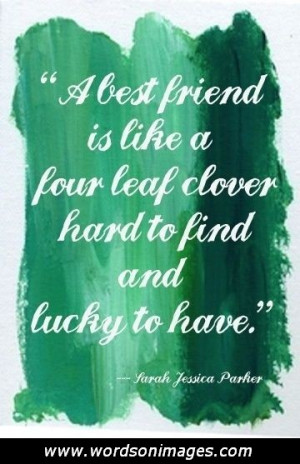 Irish friendship ...