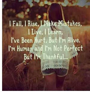 Being thankful...