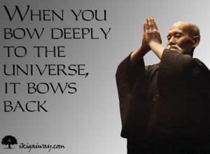 Bow Deeply – Morihei Ueshiba Quote eCard