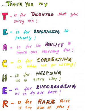 Teacher Appreciation Poems From Kids 2) writing1 - we got this poem