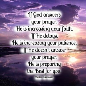 If God Answer your prayer ~ Faith Quote
