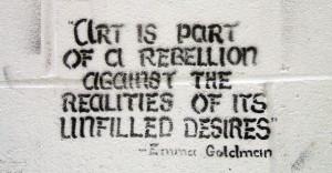 downtown edmonton graffiti quoting emma goldman Fantastic
