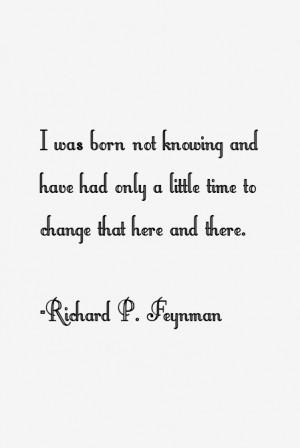 Richard P. Feynman Quotes & Sayings