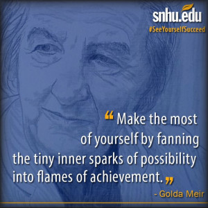 ... into flames of achievement.