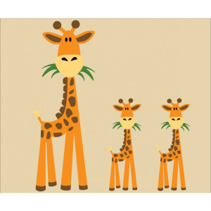 Giraffe Quotes For Kids Three giraffe wall decals