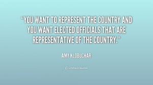 ... you want elected officials that are representative of the country