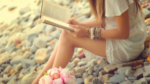 My reading Time - photography, lady, book, soft