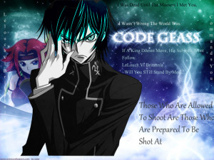 Code Geass: Lelouch Quotes Pic by Kimisary