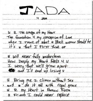 Tupac Shakur's Poem to Jada Pinkett-Smith