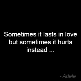 Feeling Empty Quotes Quote by adele
