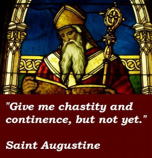 Saint Augustine's admission of fault from his youth, as related in his ...