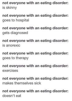 Eating Disorders, Self Harm Eating Disorder, Obvious, Ana Disorder ...