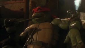 Raphael using his Sai to pick his teeth)