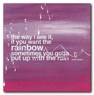 sometimes, I hate the rain.
