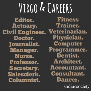 Virgo Career Ideas