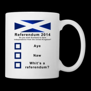 Funny Scottish Referendum on Independence Mug