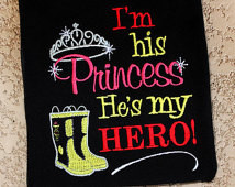 Fireman Daddy I'm His Princess He's My Hero with Firefighter Boots ...