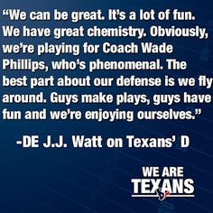Watt is getting pumped up for the 2012 season. More