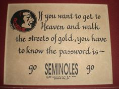 Florida-Seminole-Football-Plaques-Hand-Calligraphy-Matted-Unframed ...