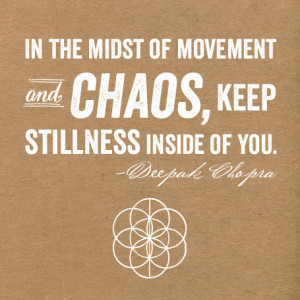 Quote of the Day {In the midst of chaos}