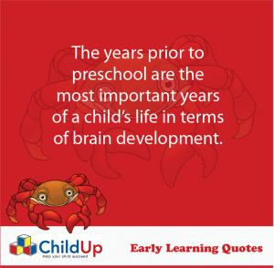 ChildUp Early Learning Quote #101 – The Years Prior Preschool