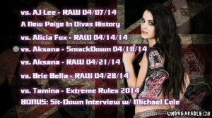 wwe paige quotes