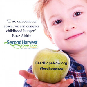"""... we can conquer space, we can conquer childhood hunger"""" - Buzz Aldrin"""