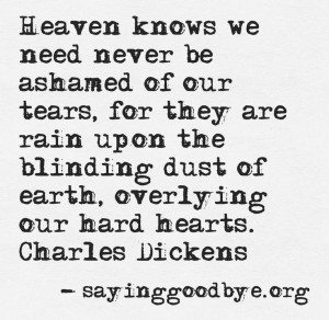 Charles Dickens Grief Quote