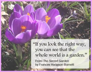 burnett quote the secret garden burnett world garden quote life