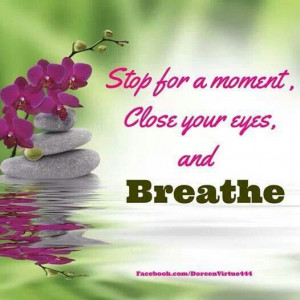 Stop for a moment.....