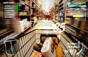 funny groceries shopping cart videogame