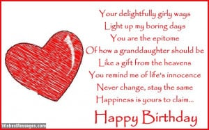 birthday poems for granddaughter cute sweet adorable funny bubbly and ...