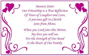 "Personalized ""My Sister, My Friend"" Mirrored Music Box"