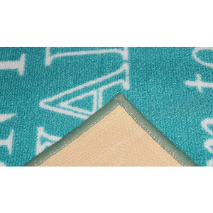 Quotes Rug Rain Turquoise 150cm x 100cm main product photo