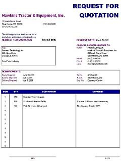 Request for Quotation Template