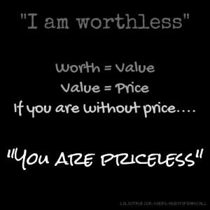 am worthless