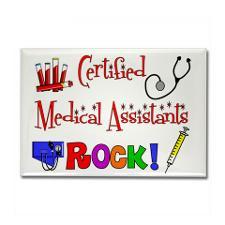 Medical Assistant Rectangle Magnet for