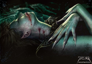 Vampire sleeping Image